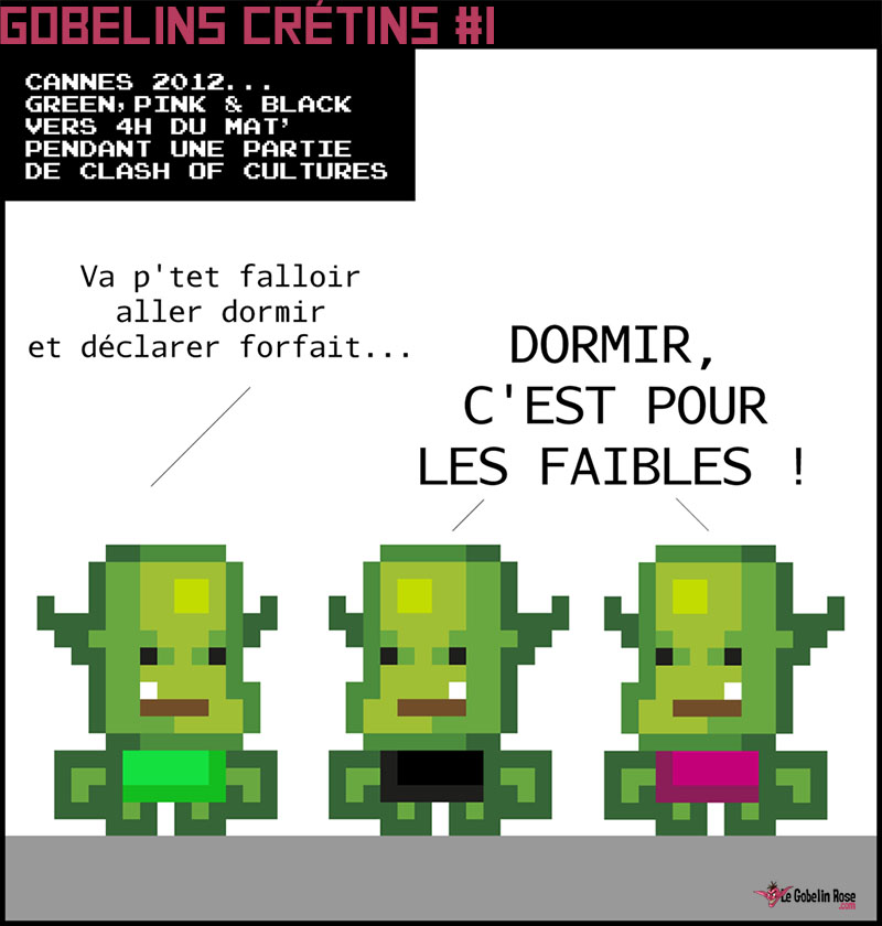 Gobelins crétins comic strip